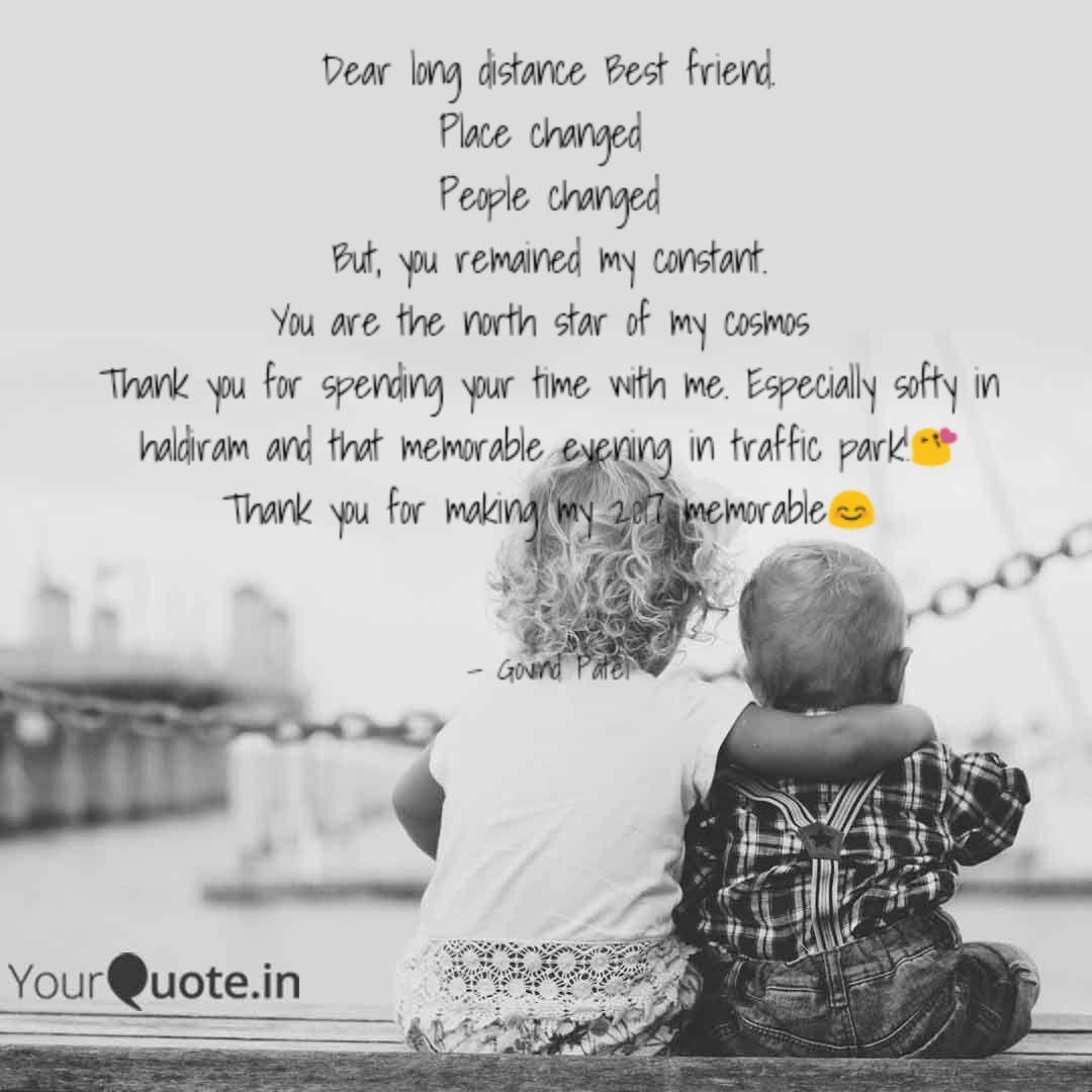 Dear long distance Best f... | Quotes & Writings by Govind ...