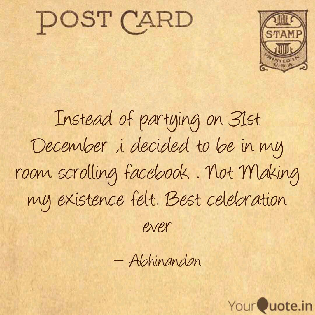instead of partying on quotes writings by abhinandan