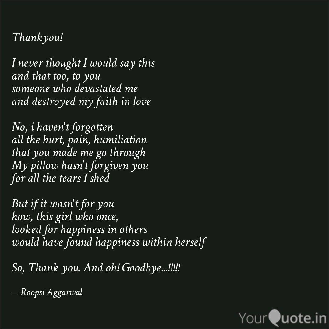 Quotes goodbye thank you 100 Good