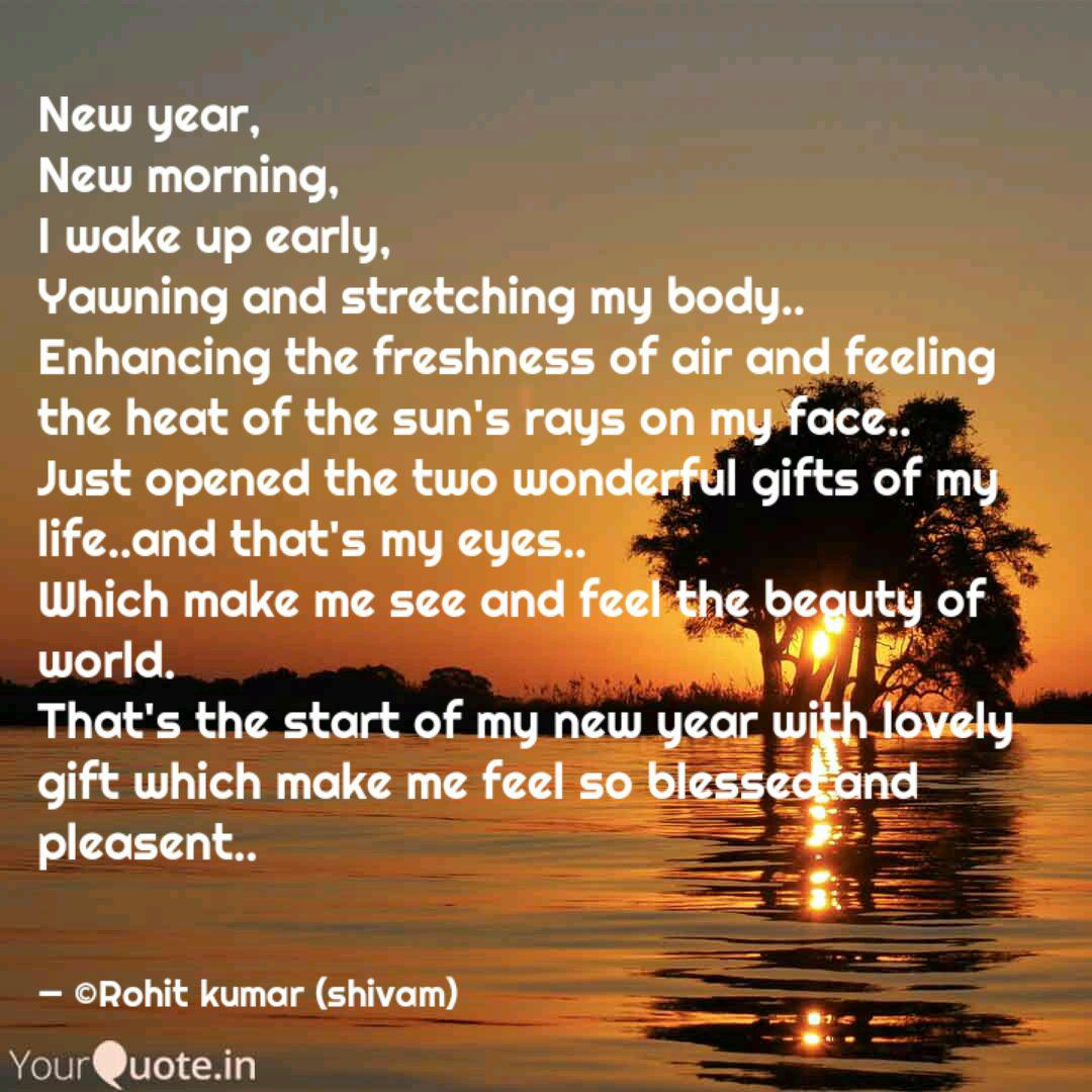 new year new morning i quotes writings by rohit kumar