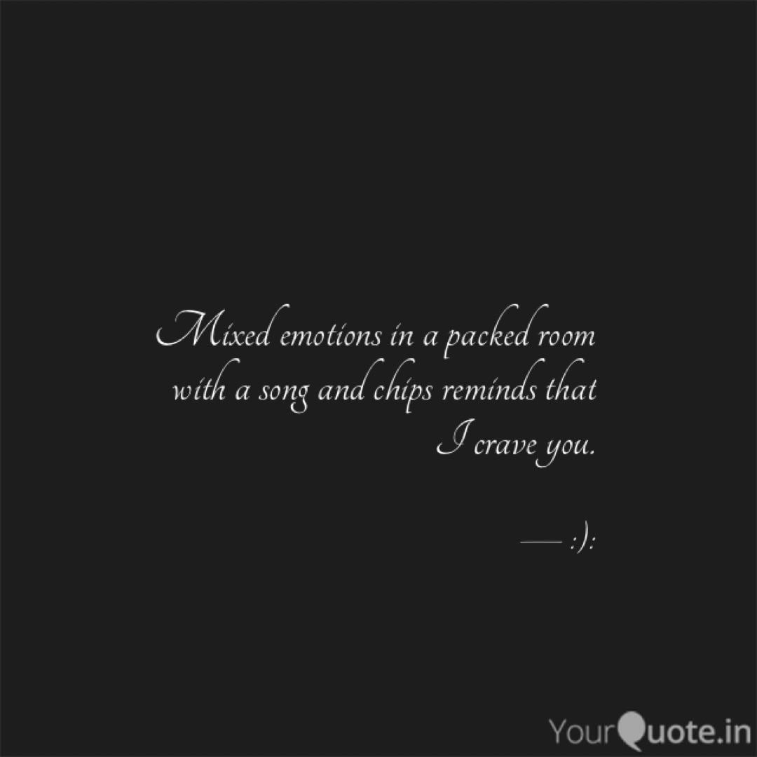Mixed emotions in a packe... | Quotes & Writings by Aastha ...