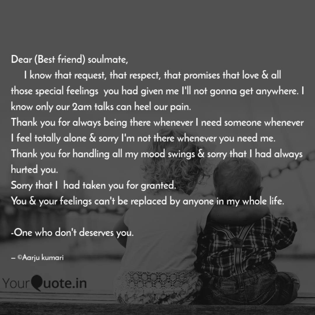 dear best friend soulma quotes writings by aarju kumari