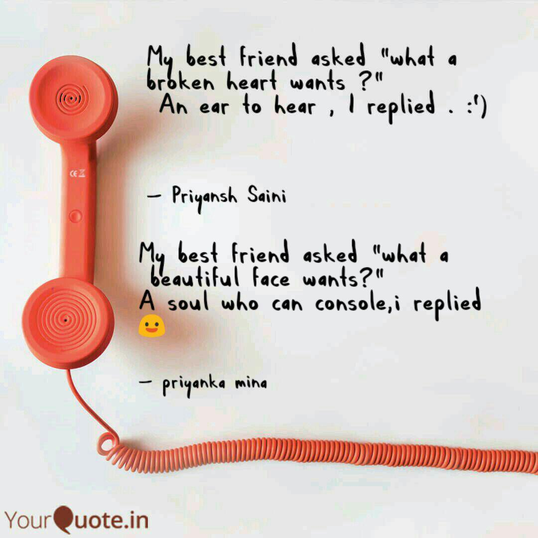 my best friend asked wha quotes writings by priyanka mina