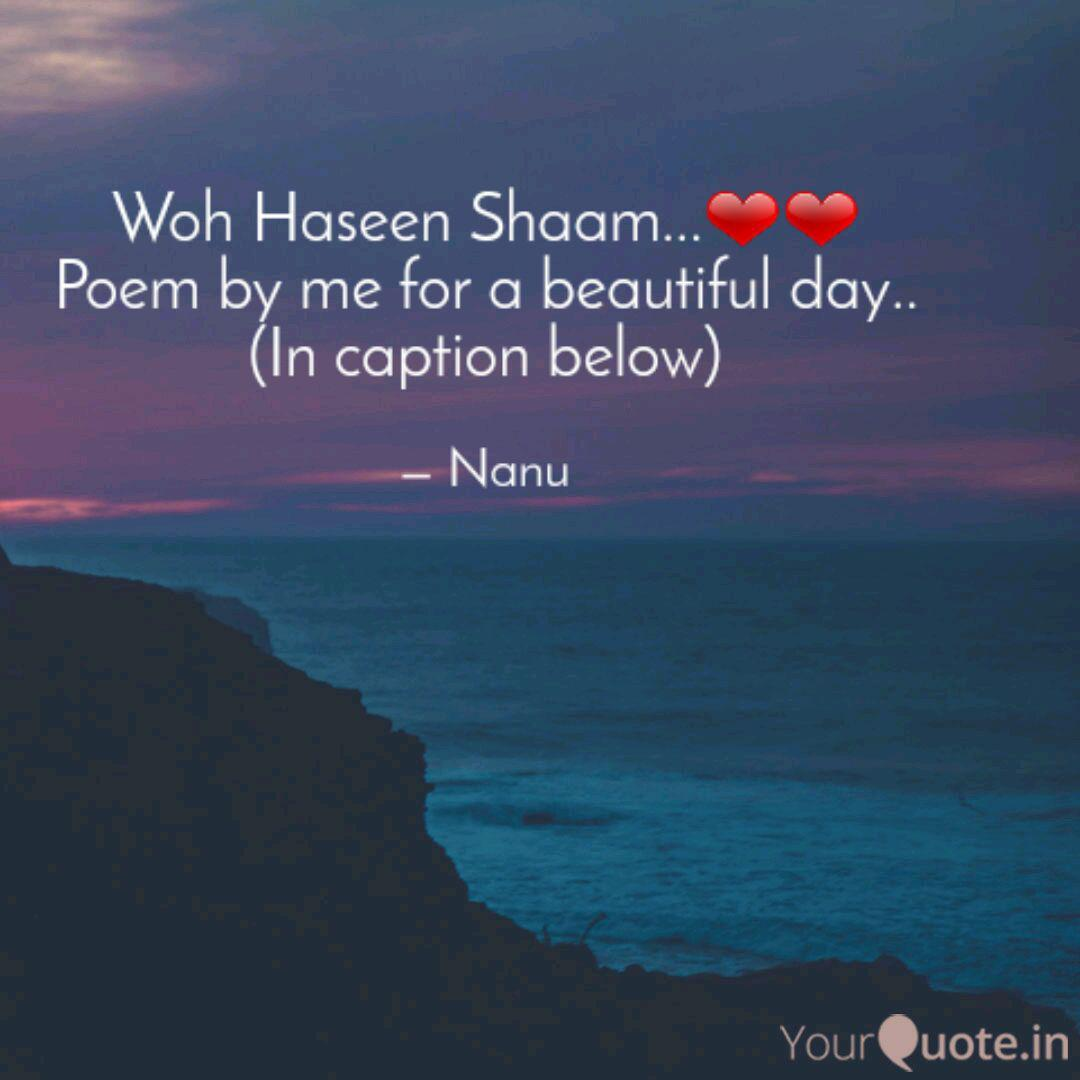 Woh Haseen Shaam Poe Quotes Writings By Pranshu Agrawal Yourquote