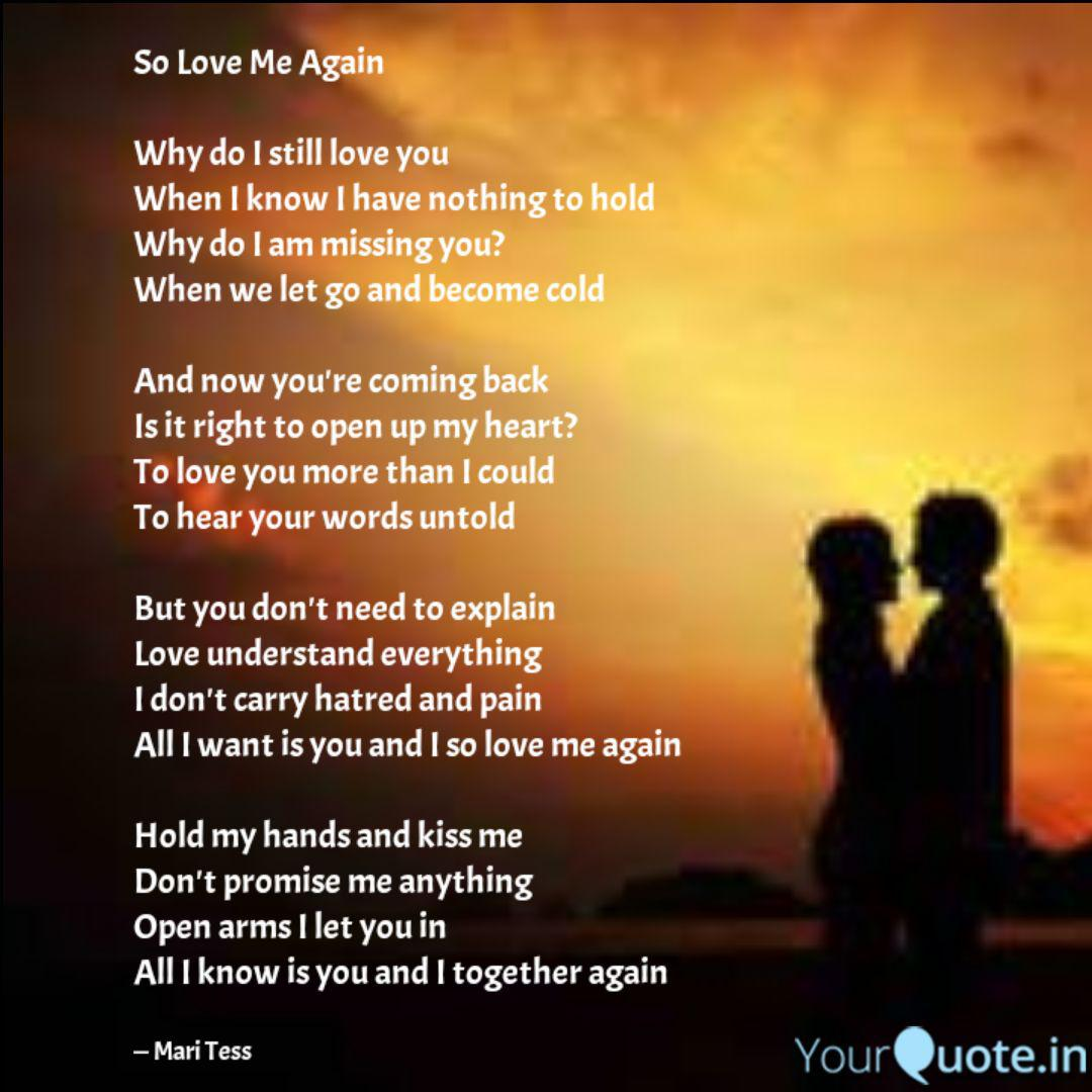 My again want me wife love to Can I