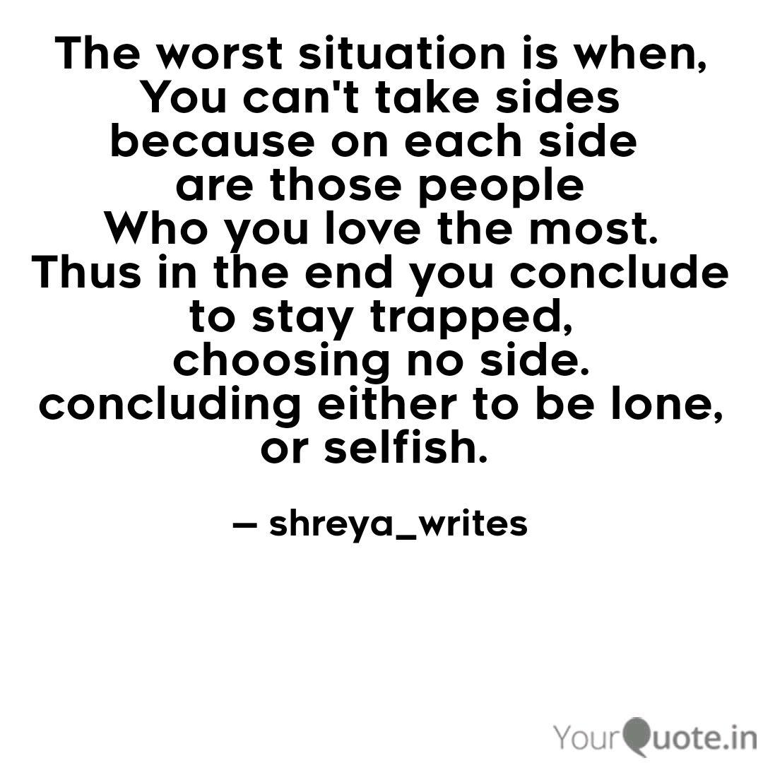 Image result for quote about choosing a side