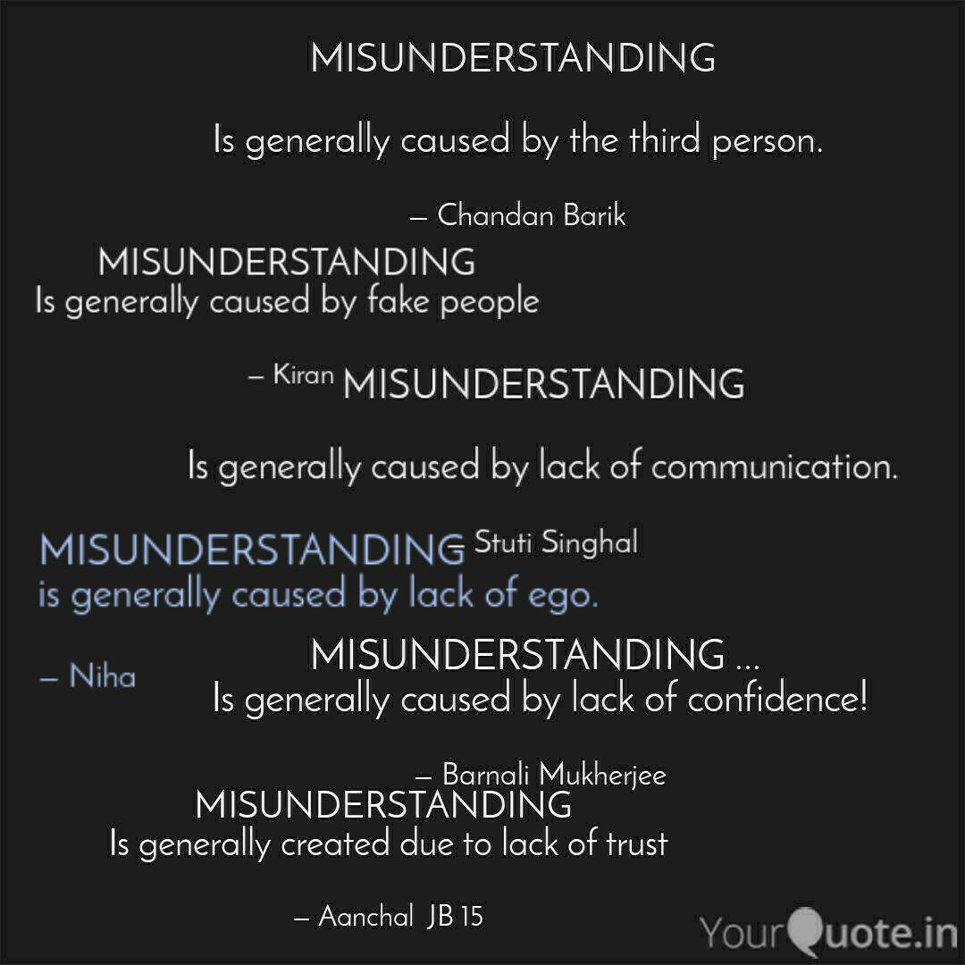 misunderstanding is gene quotes writings by kouser parveen