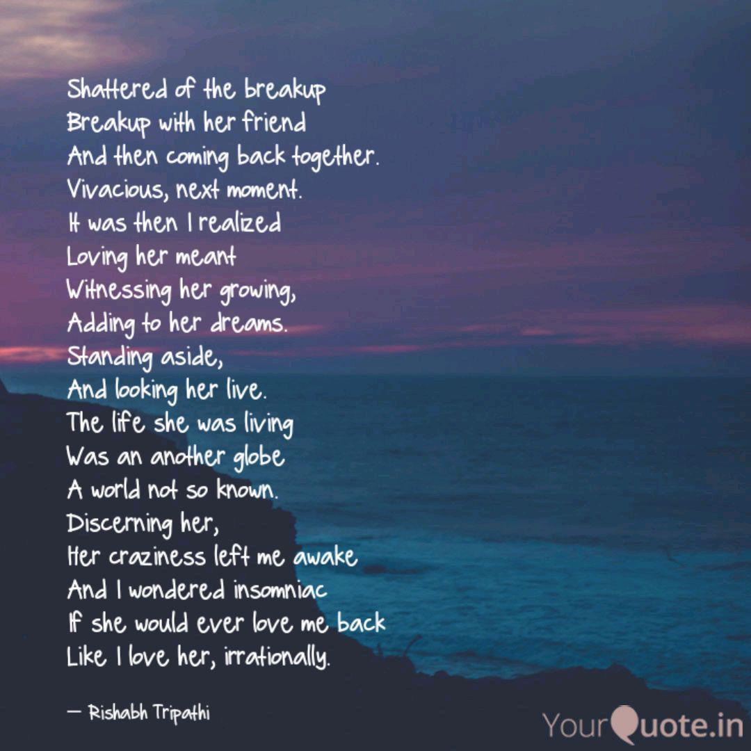 Shattered of the breakup ... | Quotes & Writings by Rishabh ...