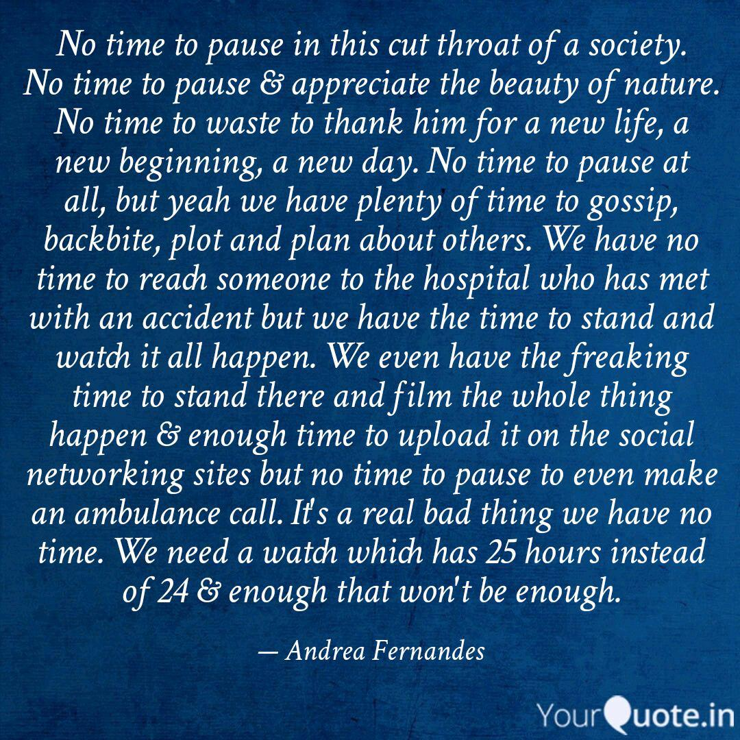 no time to pause in this quotes writings by andrea