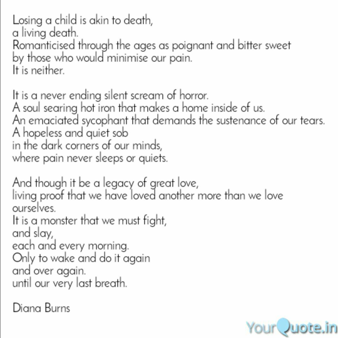 Losing a child is akin to... | Quotes & Writings by Diana ...