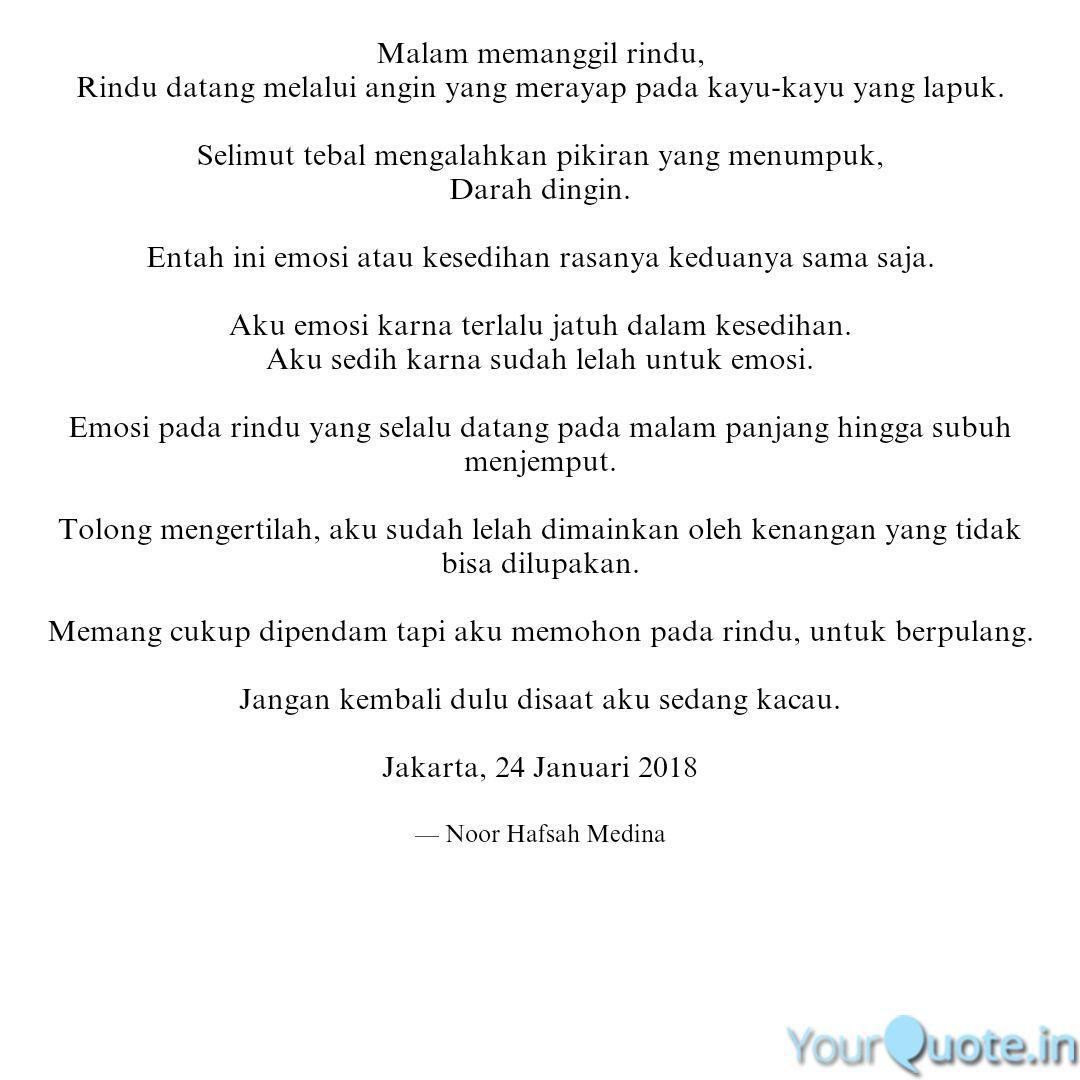 malam memanggil rindu ri quotes writings by noor hafsah