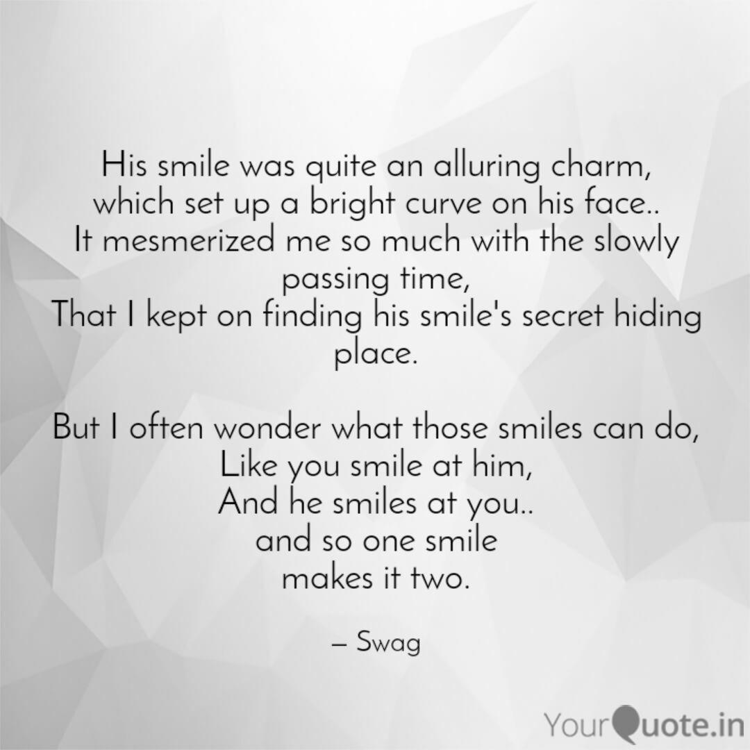 His smile was quite an al... | Quotes & Writings by Swagata ...