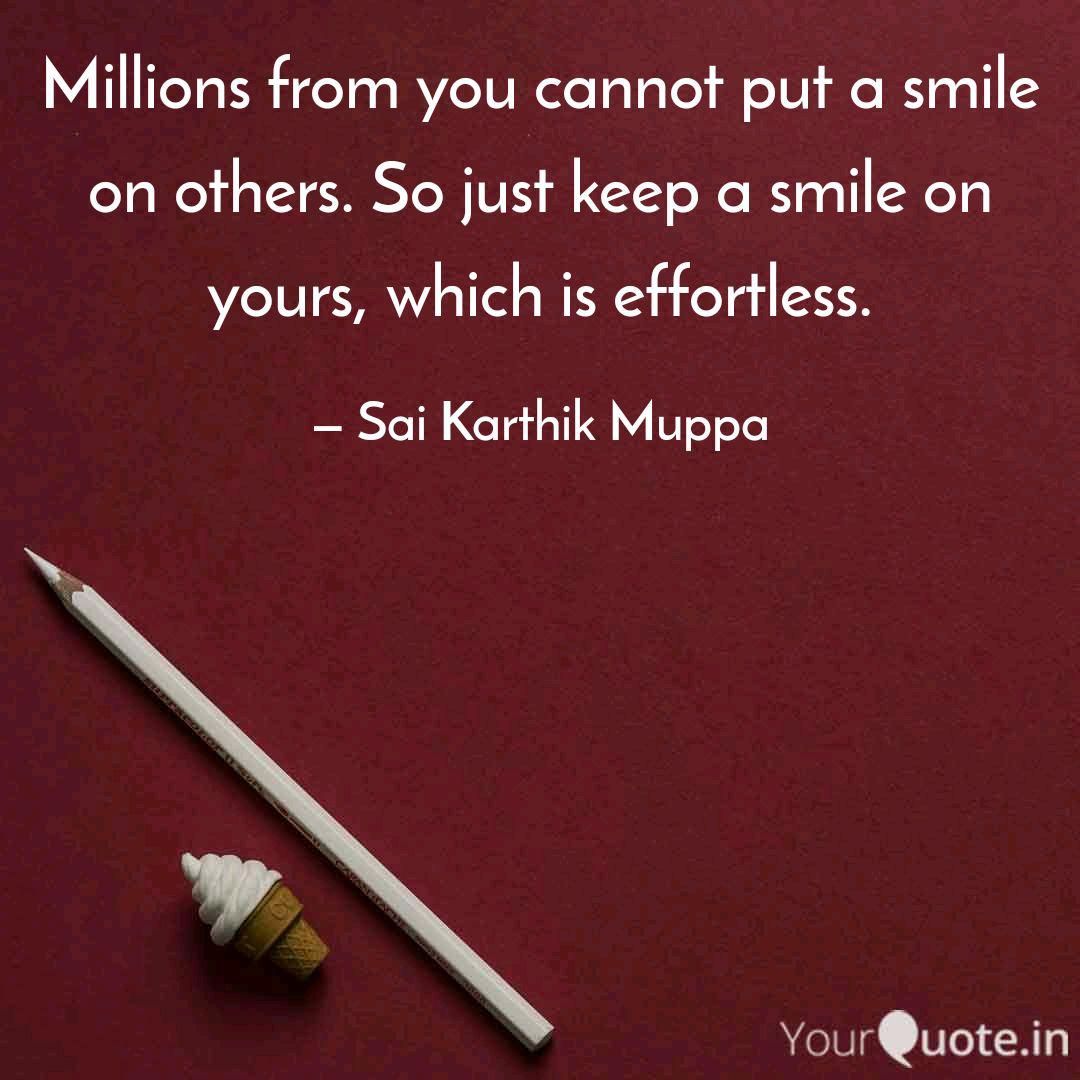 millions from you cannot quotes writings by sai karthik