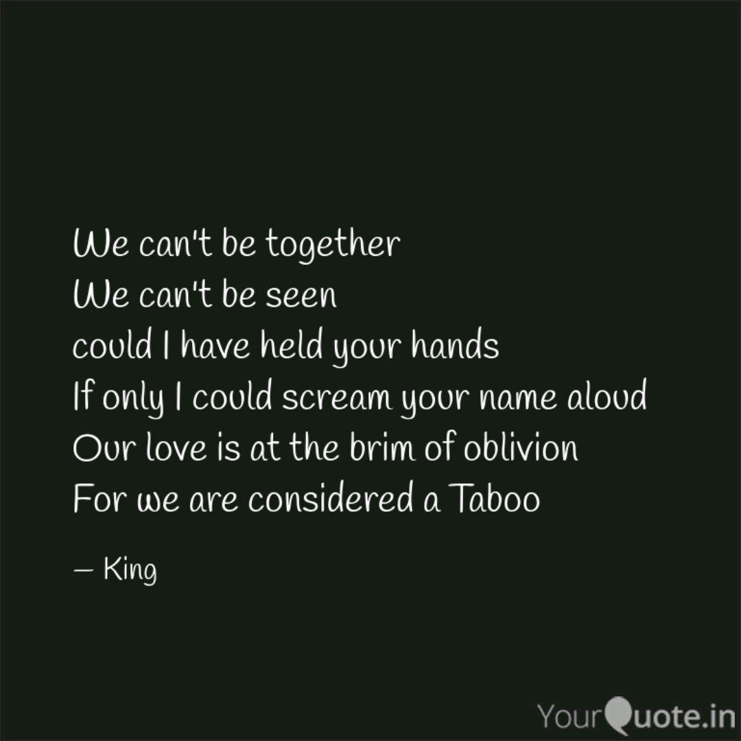 We can\'t be together We c... | Quotes & Writings by Francis ...