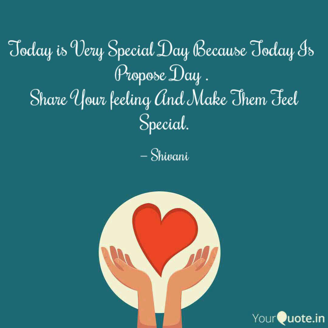 Today is Very Special Day  Quotes & Writings by Author Shivani