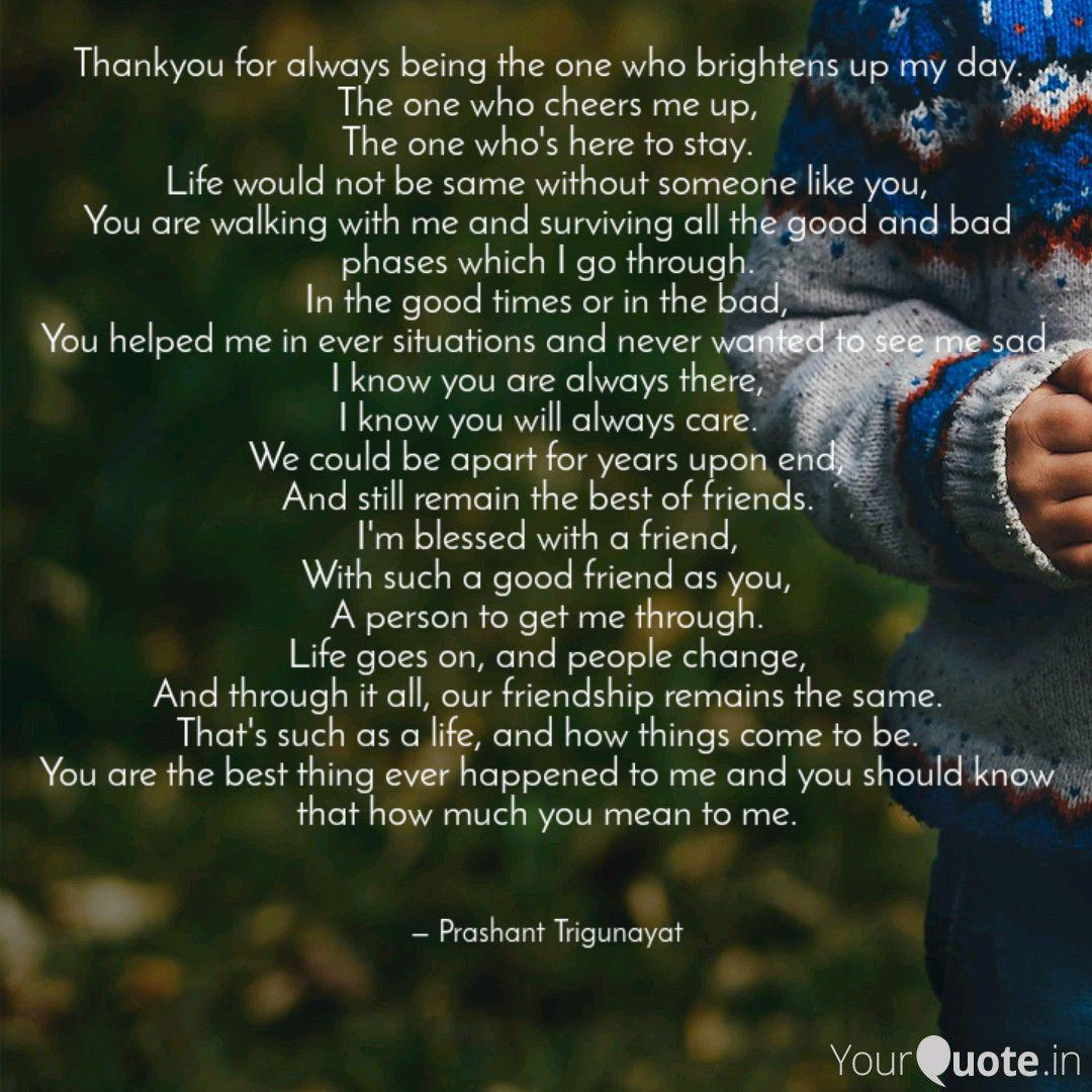 Thankyou for always being... | Quotes & Writings by Prashant ...