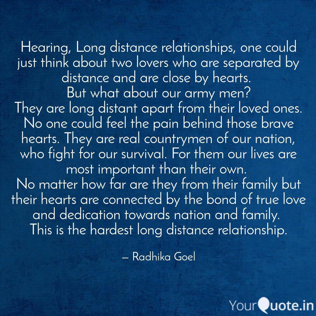Hearing, Long distance re...   Quotes & Writings by Radhika ...