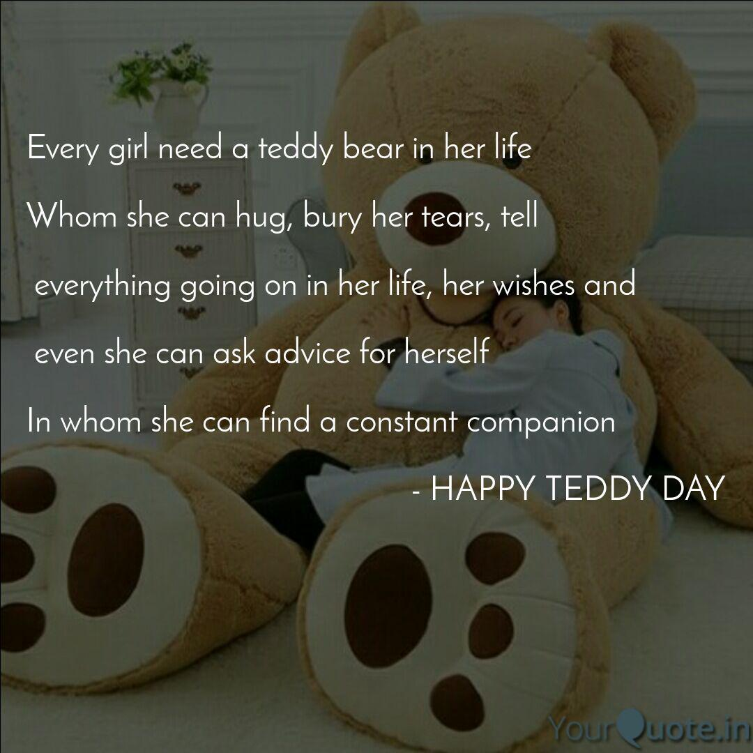 Every girl need a teddy b... | Quotes & Writings by Dona ...
