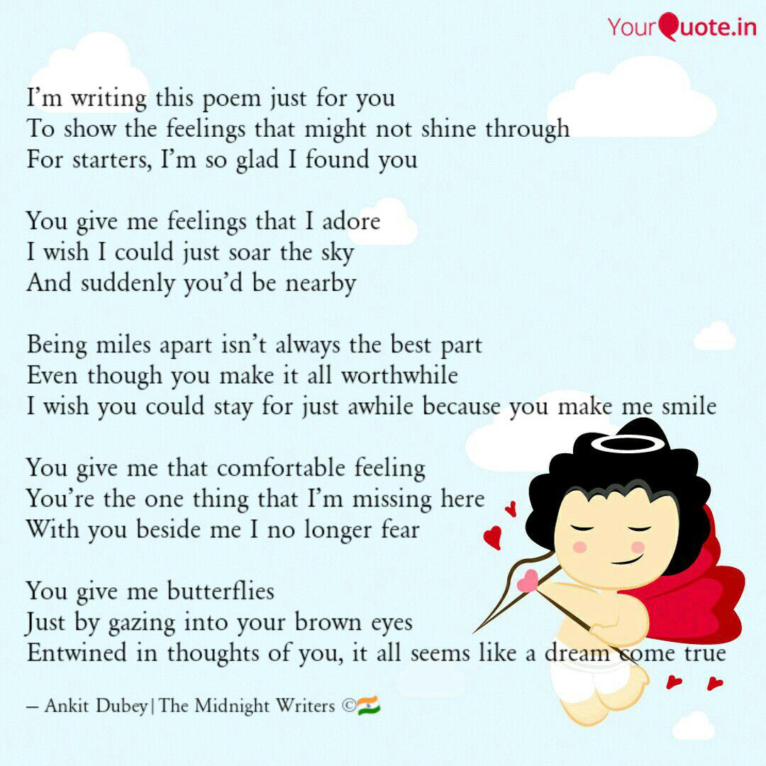 Im Writing This Poem Jus Quotes Writings By Ankit