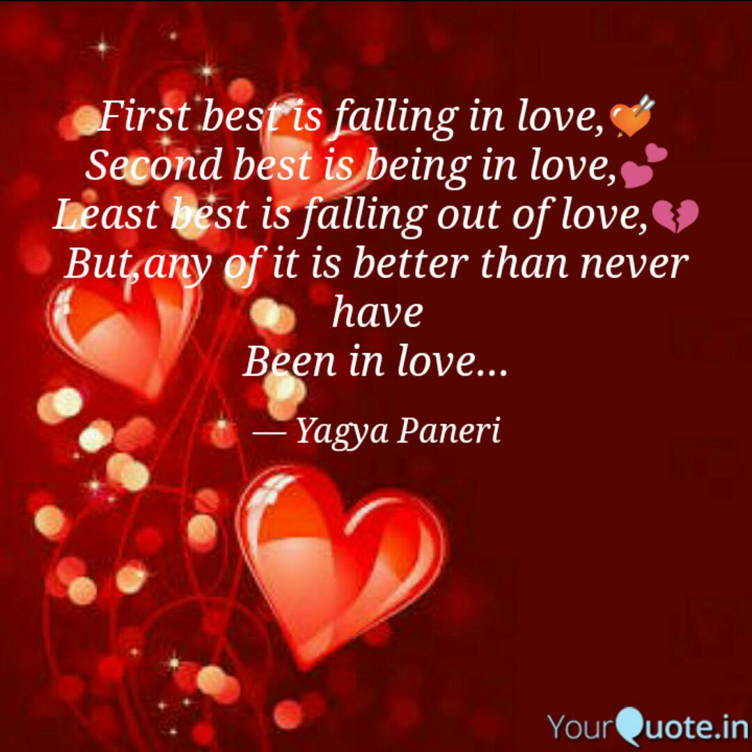 First best is falling in ... | Quotes & Writings by Yagya ...