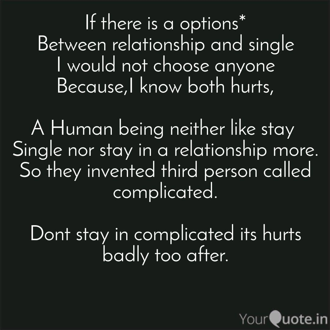 Complicated Relationship... | Quotes & Writings by Vishal ...