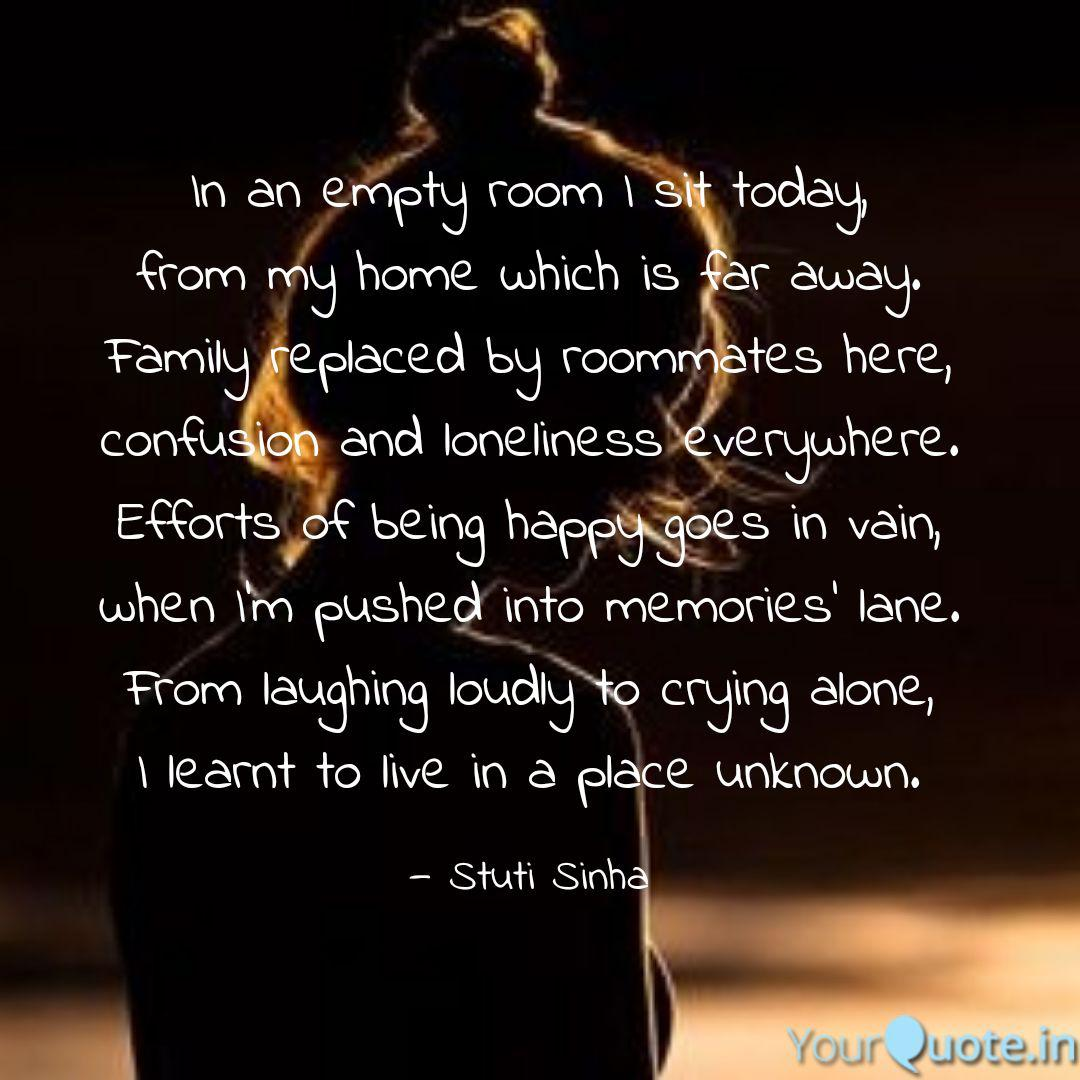 in an empty room i sit to quotes writings by stuti sinha