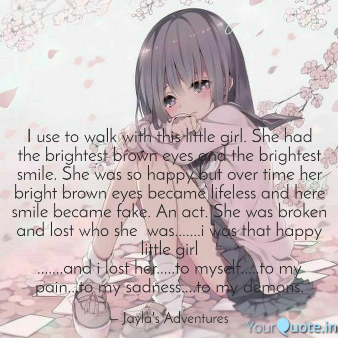 Fake Smile Anime Girl Sad Smile