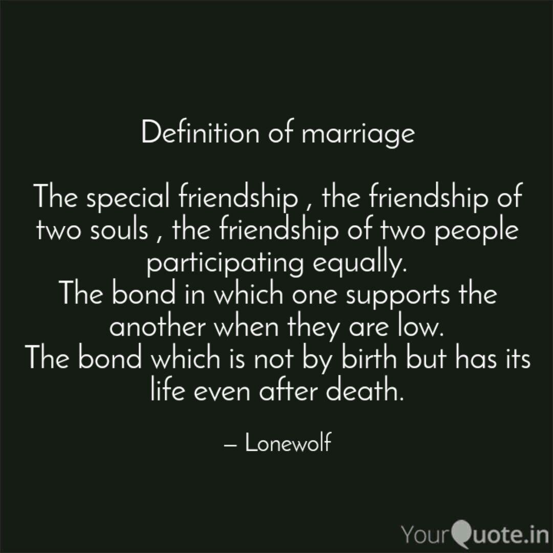 Definition Of Marriage T Quotes Writings By Jay Pratap Singh Yourquote