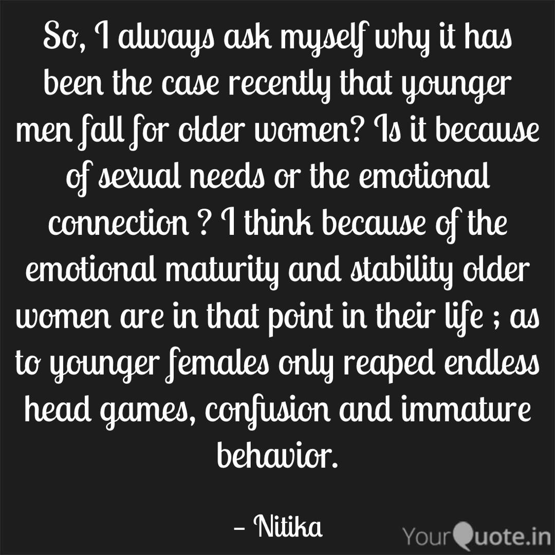Older woman and younger man quotes