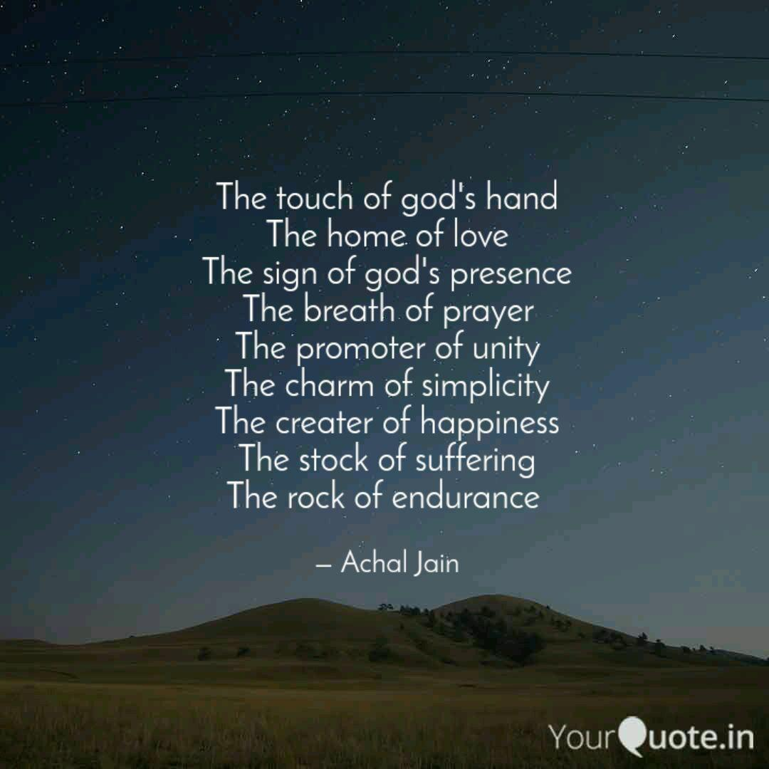the touch of god s hand t quotes writings by achal jain