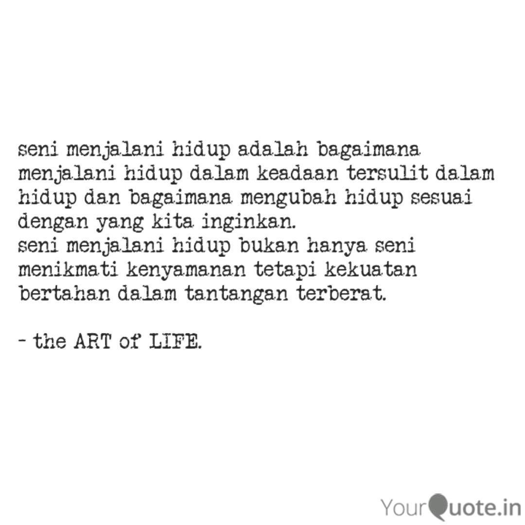 seni menjalani hidup adal quotes writings by lina herliana