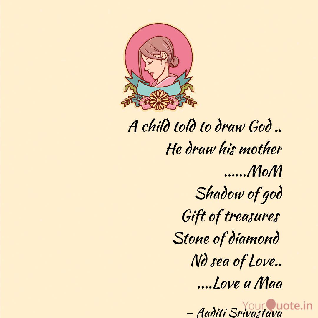 a child told to draw god quotes writings by aaditi