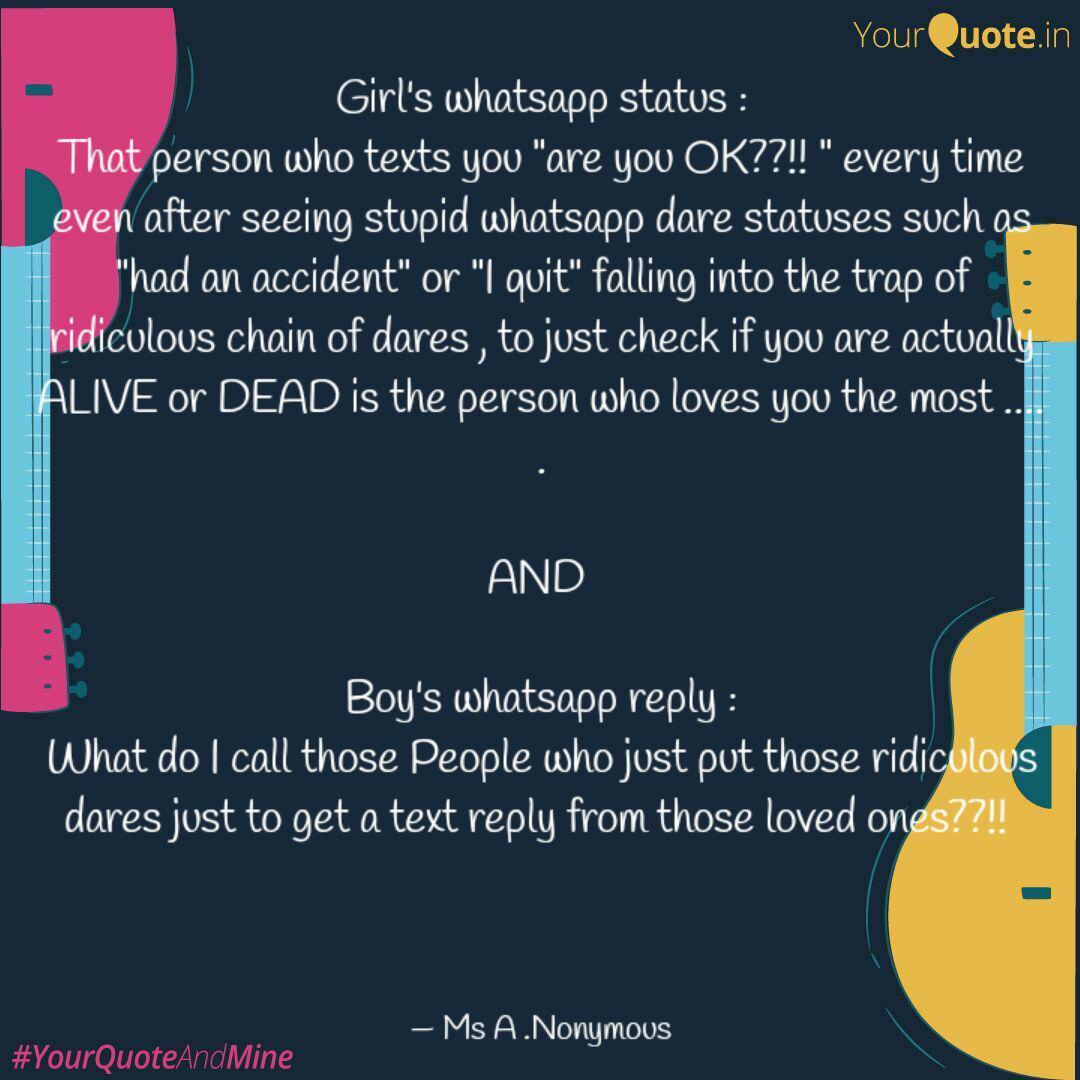 Girls Whatsapp Status Quotes Writings By Tripti