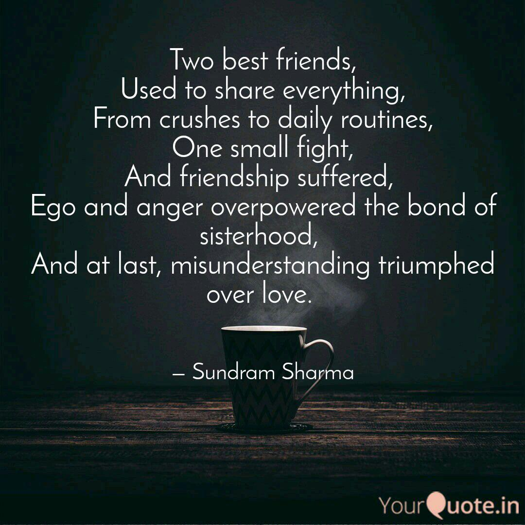 two best friends used to quotes writings by sundram sharma