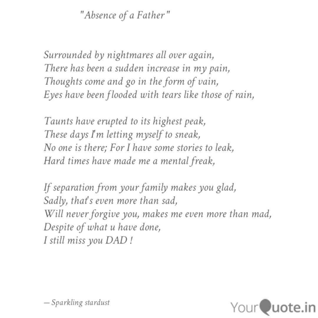 Absent Father Quotes And Sayings 94 Quotes