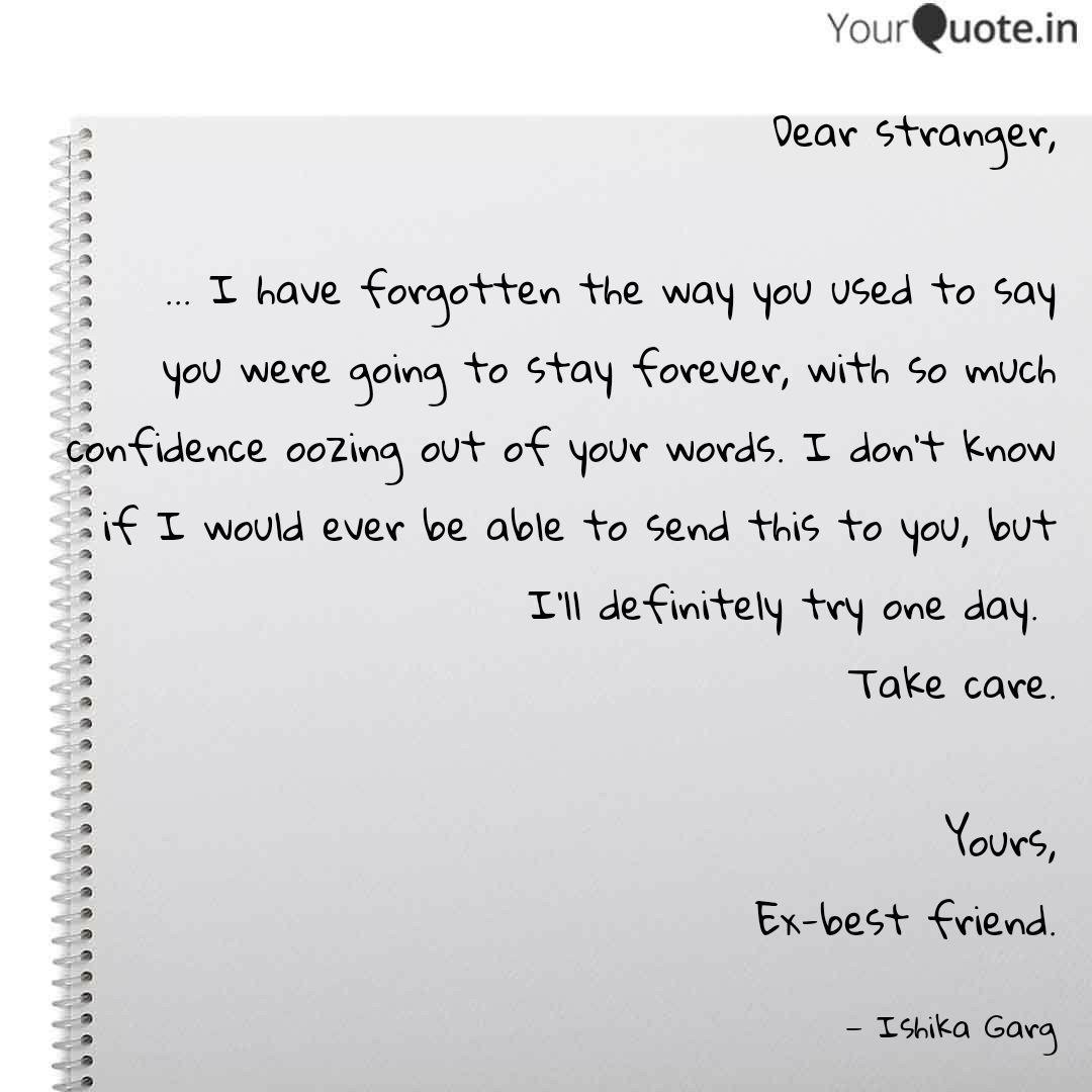 Quotes my friend ex best 15 Ex