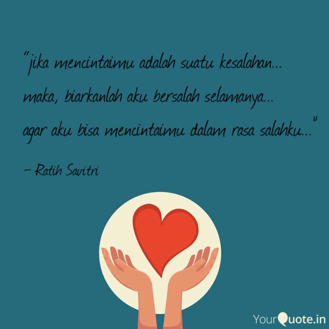 jika mencintaimu adalah quotes writings by ratih savitri