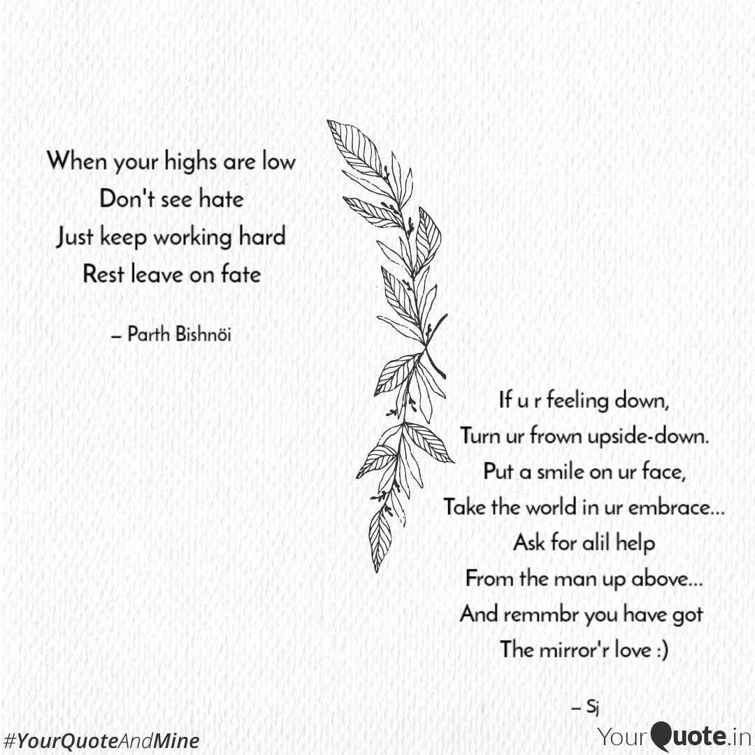 If u r feeling down, Turn... | Quotes & Writings by Shailaja ...