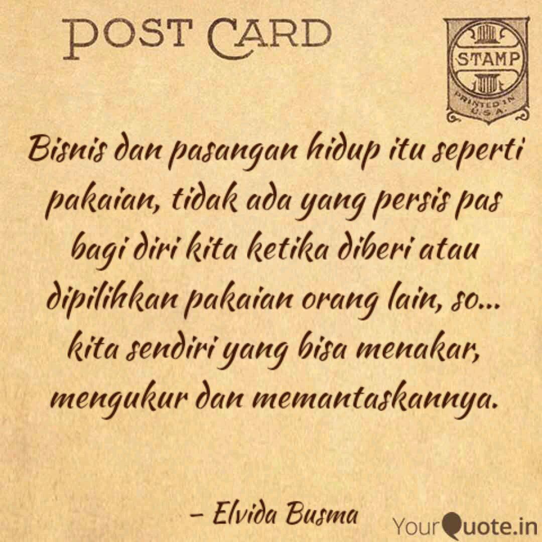 bisnis dan pasangan hidup quotes writings by elvida busma