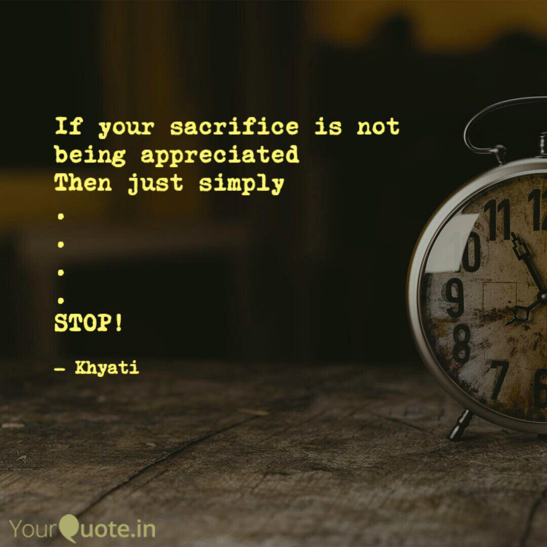 If your sacrifice is not ... | Quotes & Writings by Khyati ...