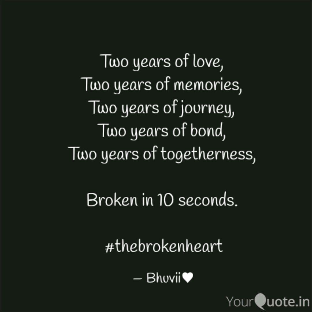 Of quotes years two togetherness Best Happy