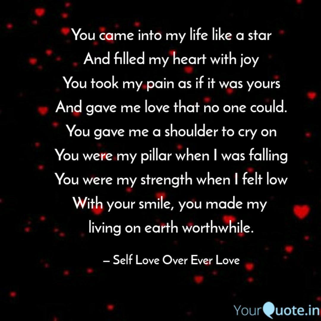 You came into my life lik  Quotes & Writings by Aman Marghani