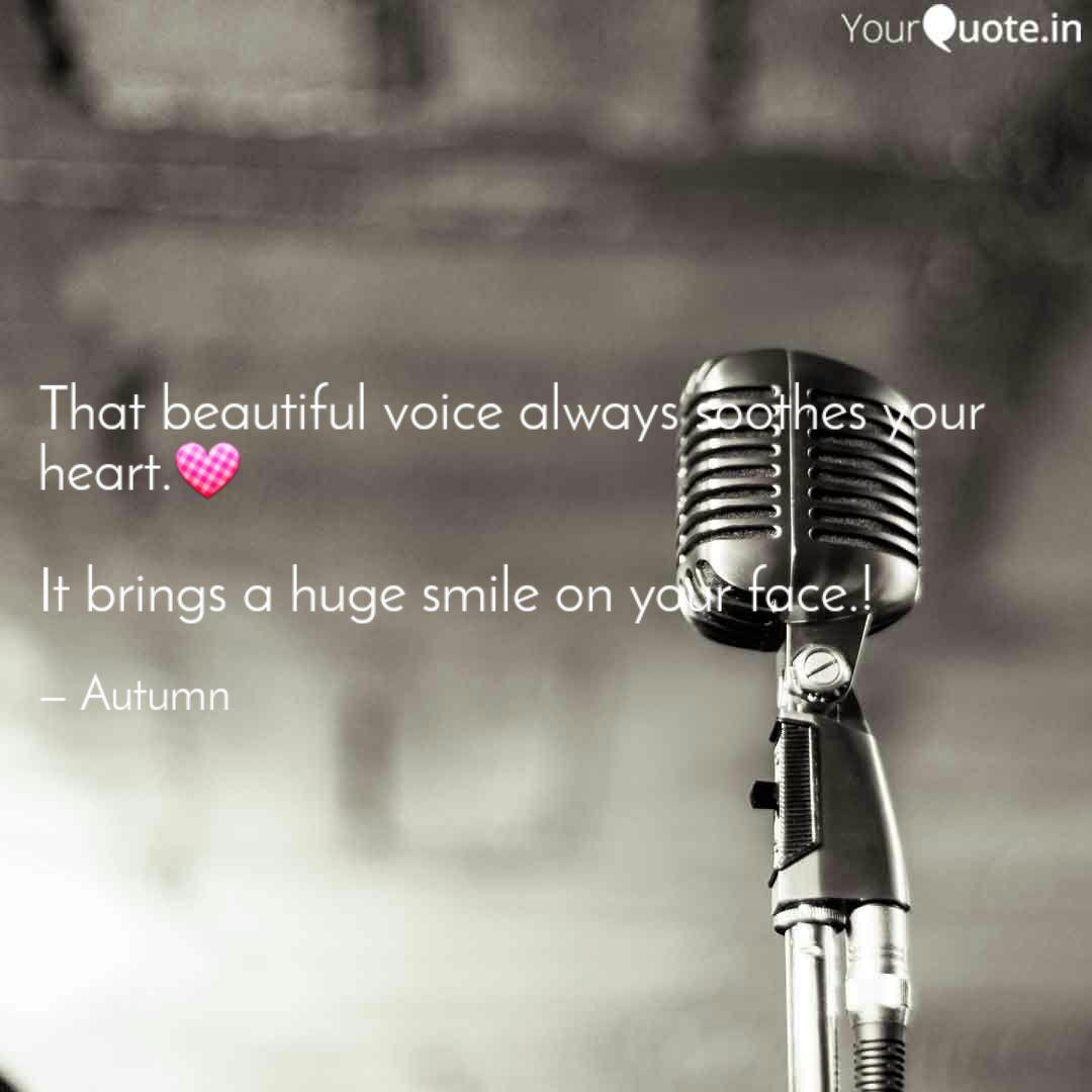 That beautiful voice alwa  Quotes & Writings by Aimun shah