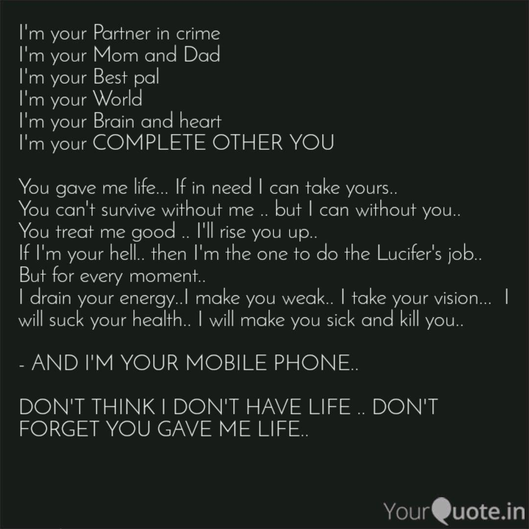 I M Your Partner In Crime Quotes Writings By Sneka