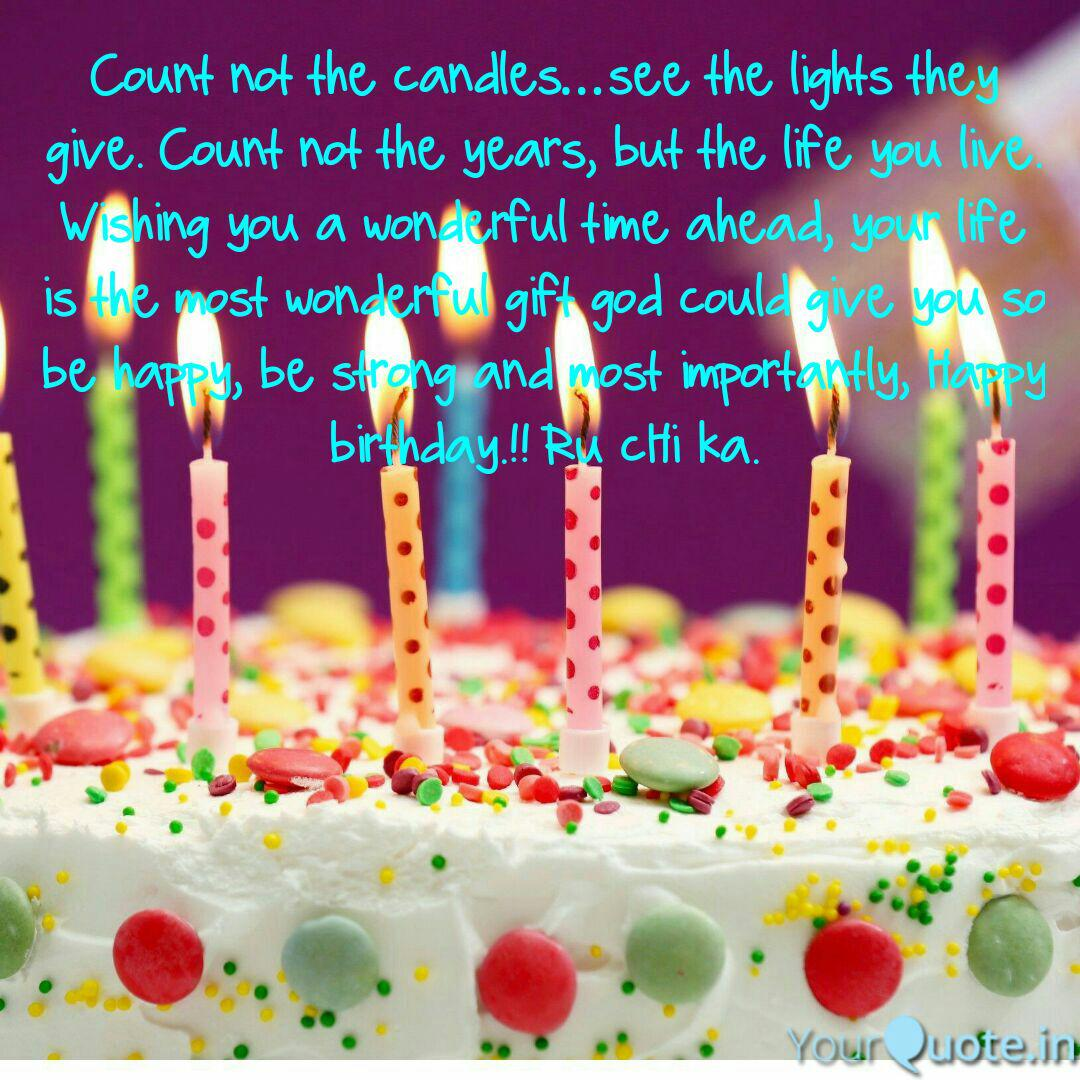 count not the candles see quotes writings by soumyajit