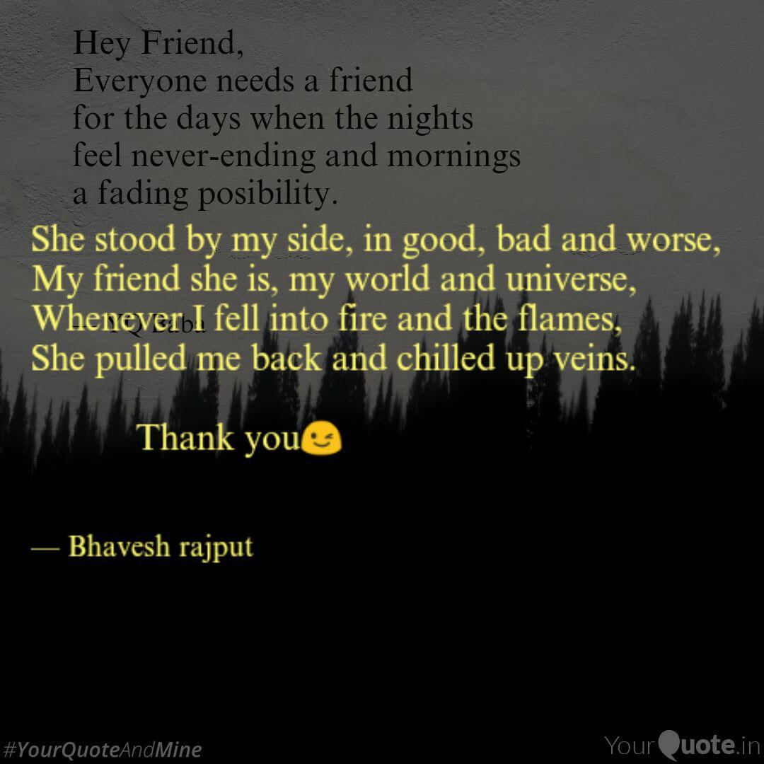 She stood by my side, in ...   Quotes & Writings by Bhavesh ...
