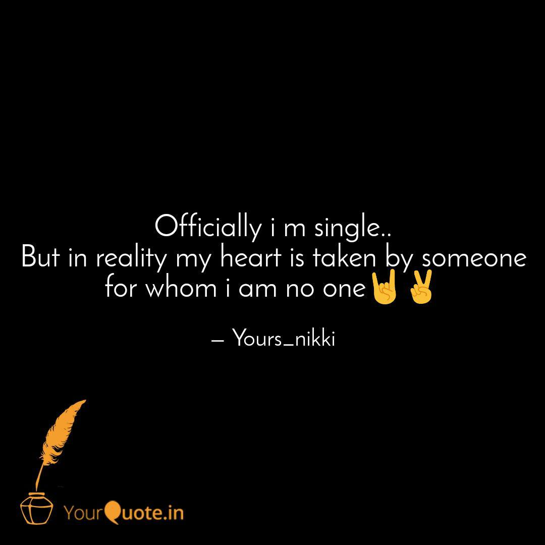 Officially i m single.. B... | Quotes & Writings by Nikki ...