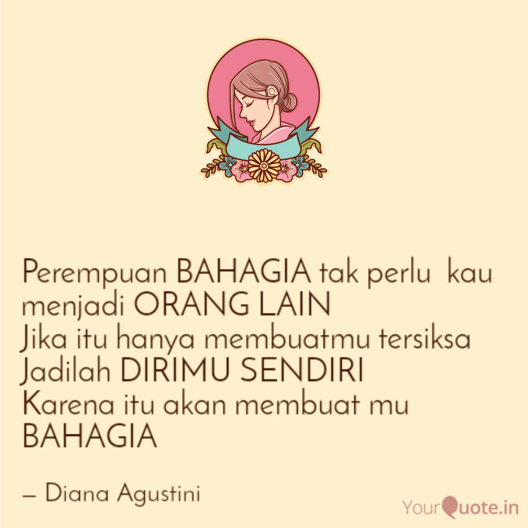 perempuan bahagia tak per quotes writings by diana agustini