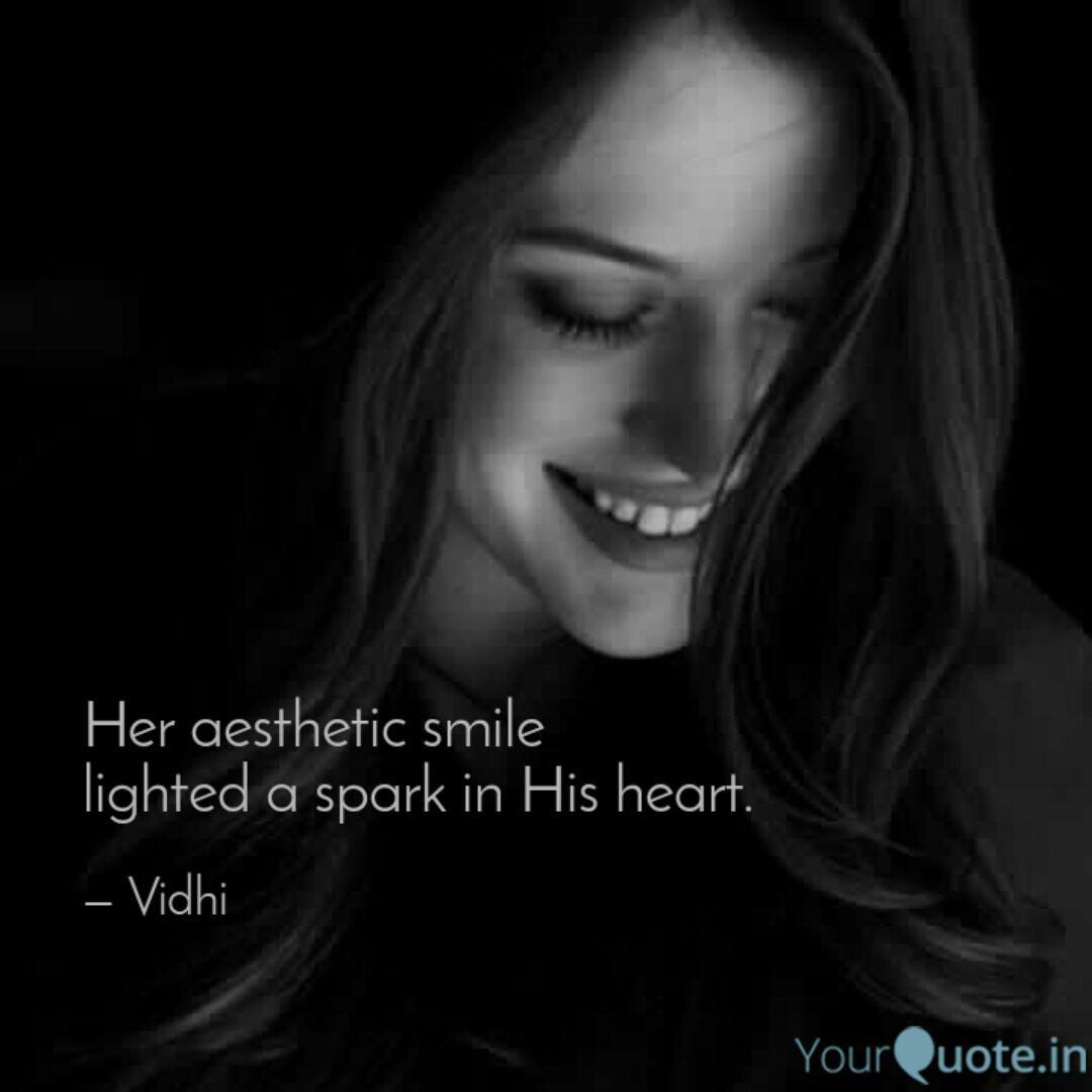 her aesthetic smile light quotes writings by vee sharawat
