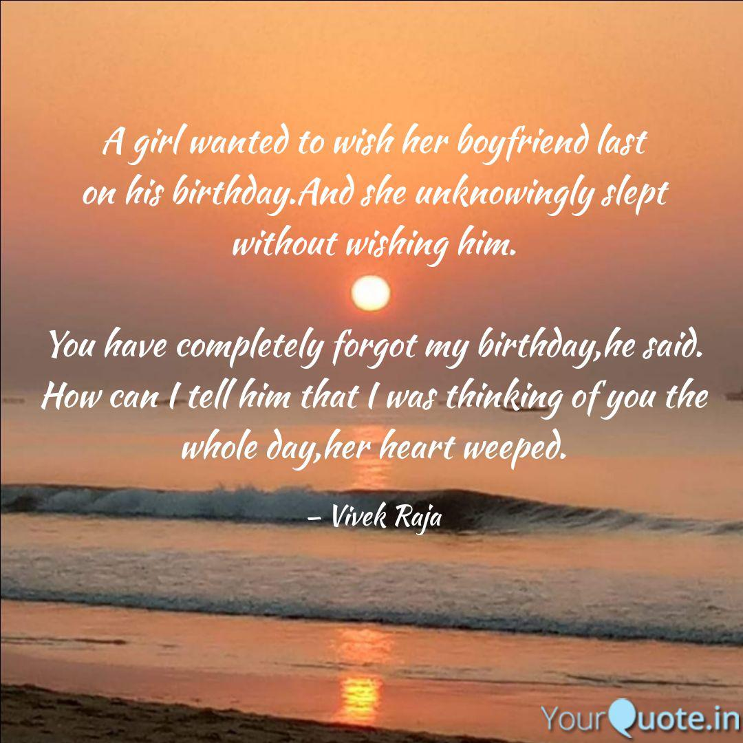Fantastic A Girl Wanted To Wish Her Quotes Writings By Vivek Raja Personalised Birthday Cards Veneteletsinfo